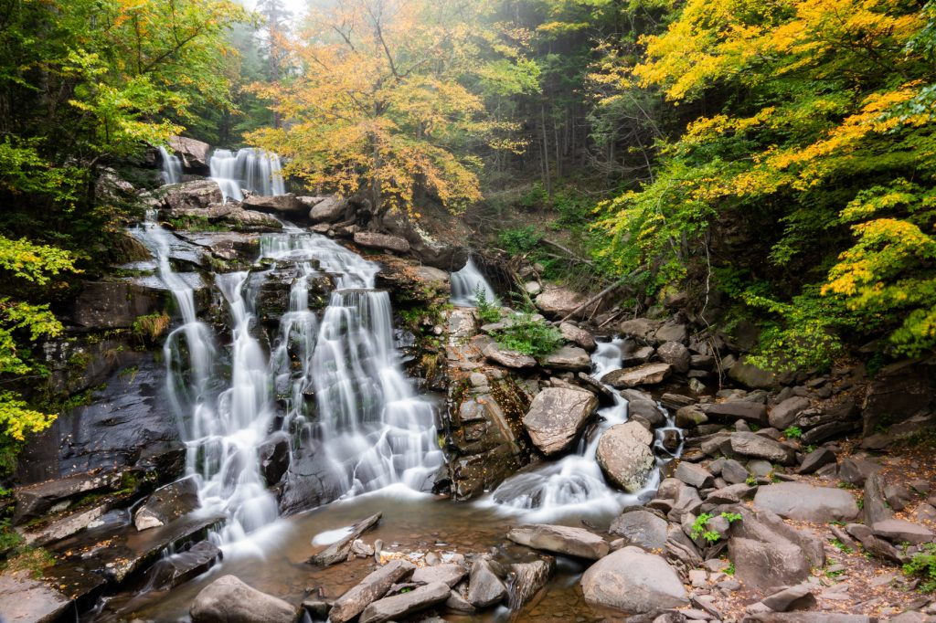 bastion-waterfalls-autum-color-catskill-mountains-new-york